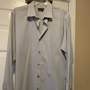 Van Heusen Flex Slim Large L Dress Shirt Grey
